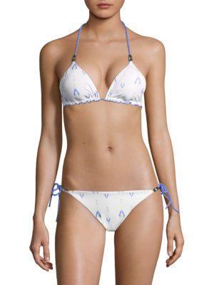 Heidi Klein Reversible Triangle Bikini Top In Multi
