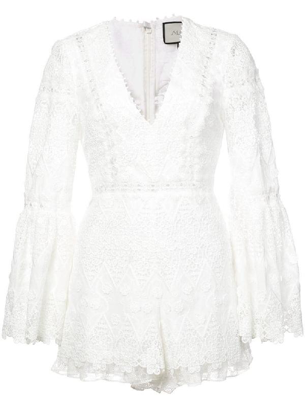 636e343e Alexis Caralyn Guipure Lace Romper In White   ModeSens