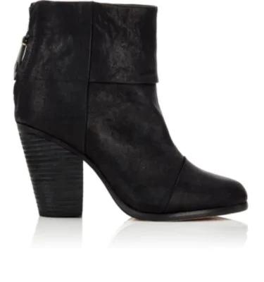 Rag & Bone Newbury Leather Ankle Boots In Black