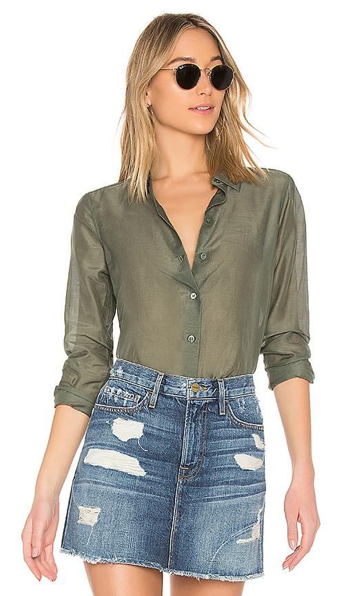 Equipment Woven Essential Top In Green