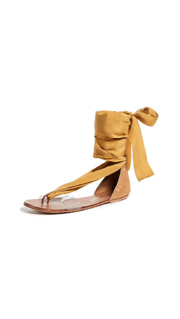 1f003e775 Free People Barcelona Wrap Sandals In Yellow