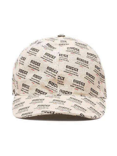 0a1712a9126cd Gucci Logo-Print Linen And Cotton-Blend Canvas Baseball Cap In Neutrals