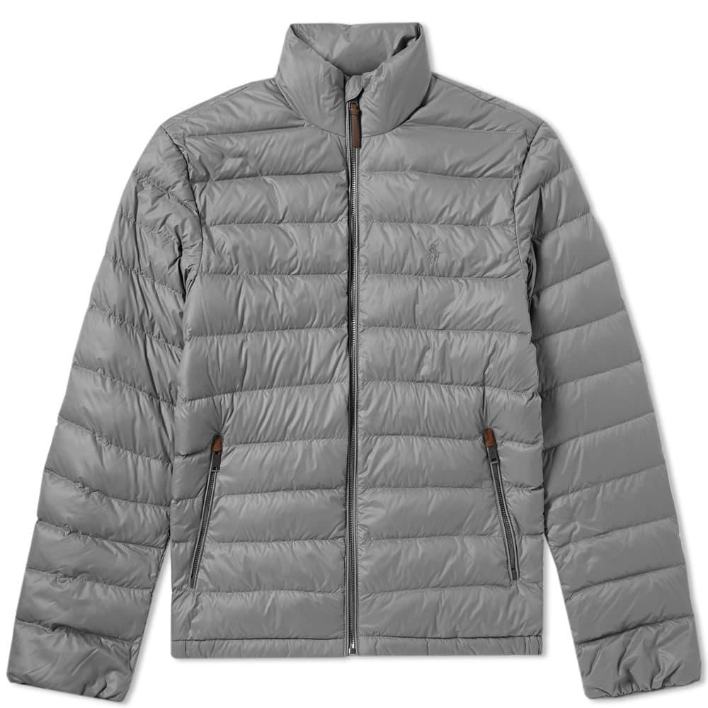 Polo Ralph Lauren Lightweight Down Jacket In Grey
