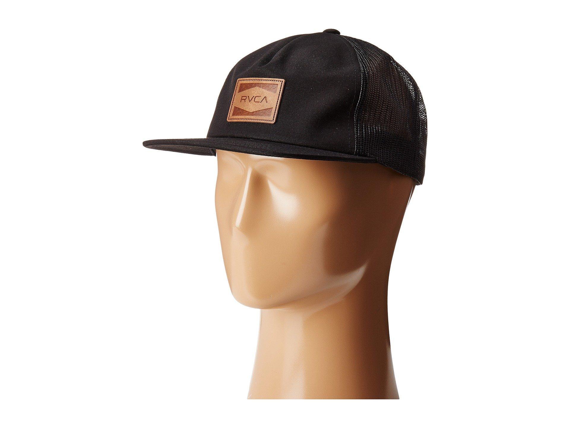 Rvca Washburn Trucker Hat In Black