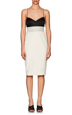 29eb2fc1f79d Narciso Rodriguez Wool & Silk Fitted Slipdress - White | ModeSens
