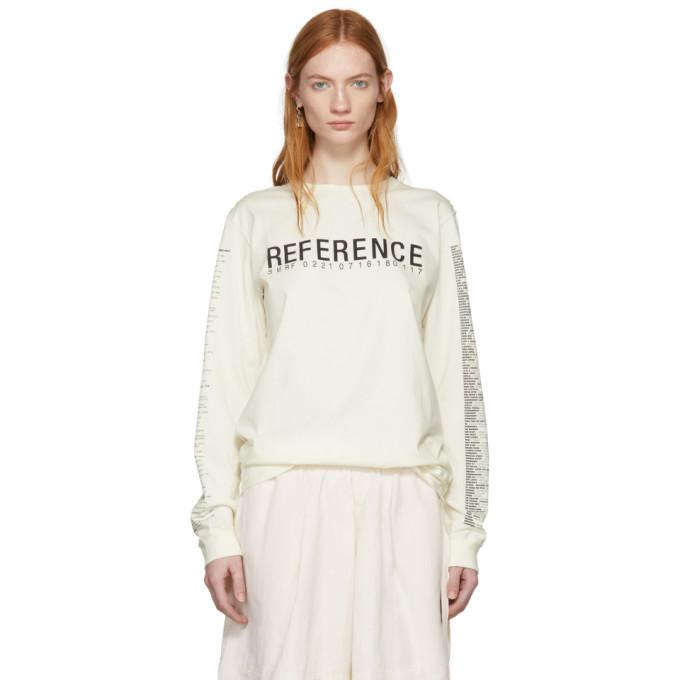 Yang Li Off-White Long Sleeve Reference 3.0 T-Shirt In 01 Offwhite