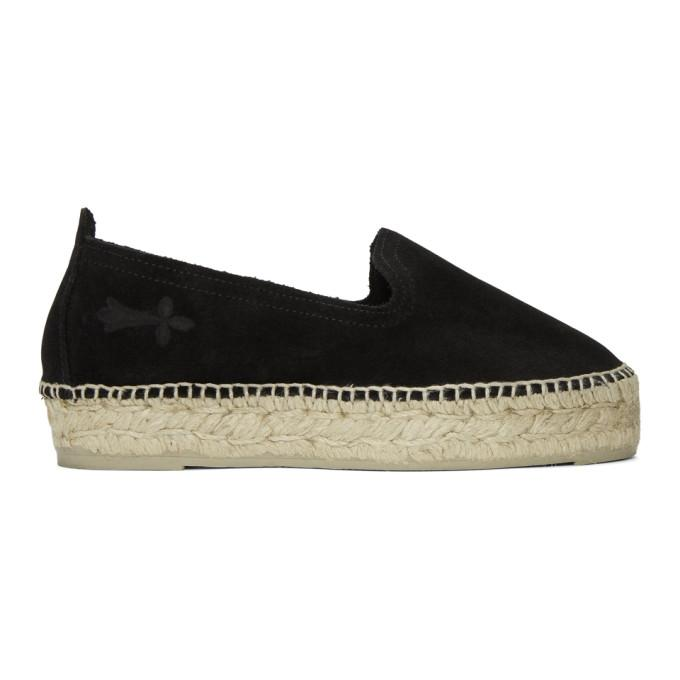 73a92c2687d Manebi Black Hamptons Double Sole Espadrilles in Suede Black