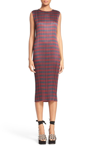 Alexander Wang Woman Pleated Printed Textured-satin Dress Burgundy In Balsamic