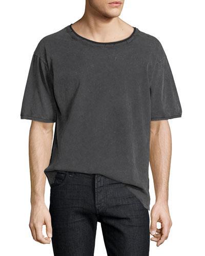 saint laurent relaxed pocket t-shirt