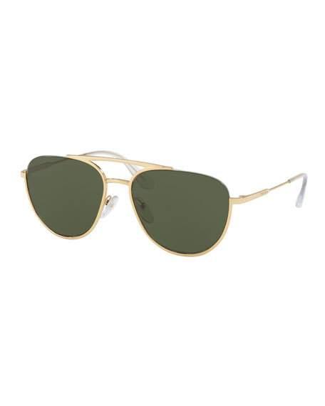 629b48bde Prada Gold Tone Aviator-Style Sunglasses | ModeSens