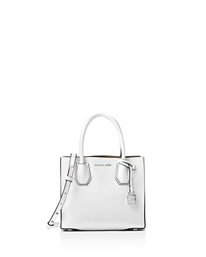 def49dce41b59d Michael Michael Kors Mercer Leather Crossbody Bag - White | ModeSens