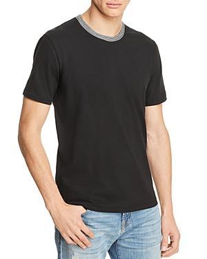 3c21a8e269 7 For All Mankind Men's Striped-Trim Ringer T-Shirt In Black | ModeSens