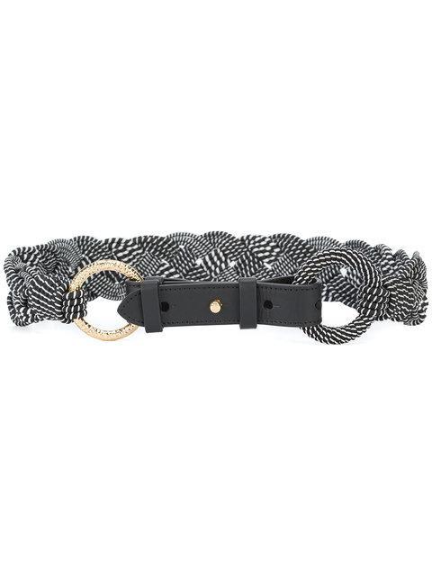 Diane Von Furstenberg Dvf  Braided Belt - Black