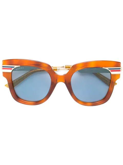 Gucci Oversized Frame Sunglasses In Brown