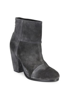 Rag & Bone Classic Newbury Leather Ankle Boots In Mineral