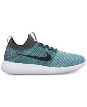 f2572b7fa770 Nike Men s Roshe Two Flyknit V2 Casual Sneakers From Finish Line In Green  Abyss Mica