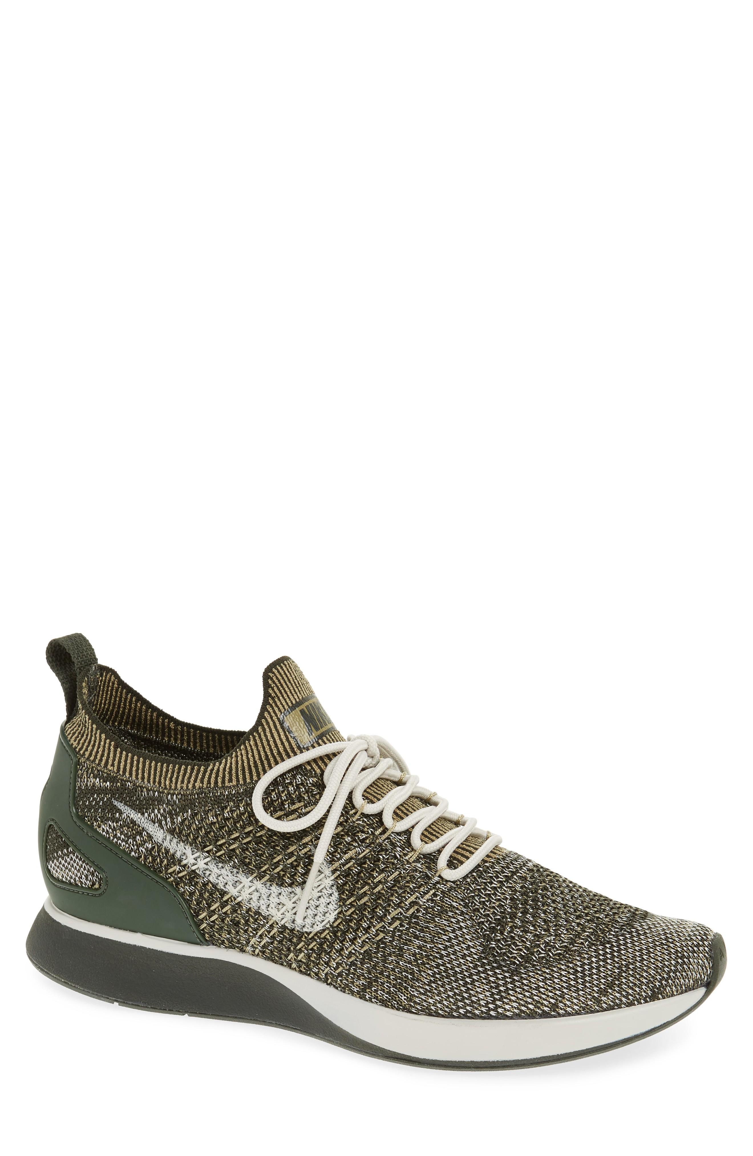 f2d34ffc1237 Nike Air Zoom Mariah Flyknit Racer Sneaker In Sequoia  Olive  Light Bone