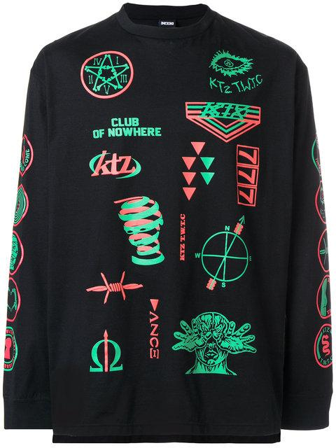 Ktz Scout Patch Print T-Shirt - Black