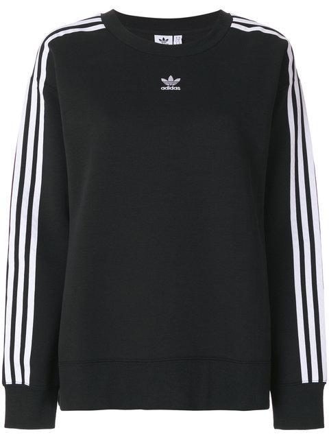 Adidas Originals Originals 3-stripes Crop Sweatshirt In Black