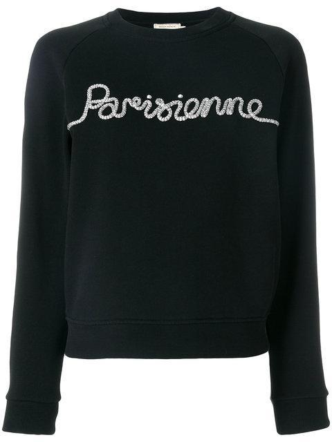 Maison KitsunÉ Parisienne Sweatshirt - Black