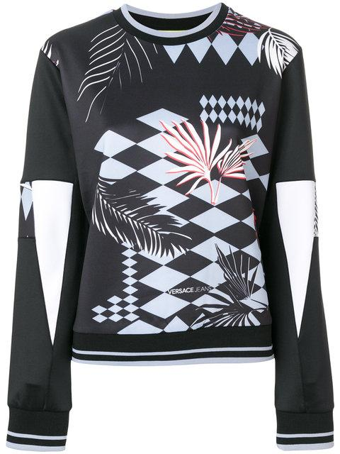 Versace Jeans Palm Tree Print Sweatshirt