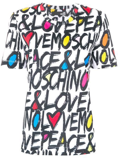 Love Moschino Logo Print T