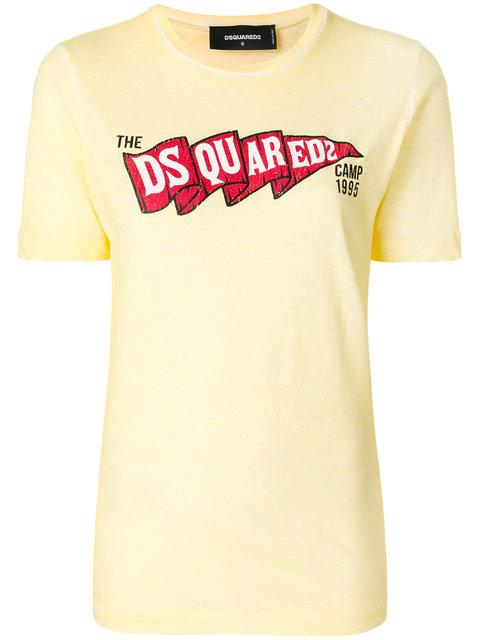 Dsquared2 Camp T-shirt - Yellow In Yellow & Orange