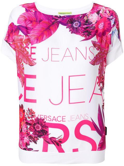 Versace Jeans Floral Print T-shirt - White