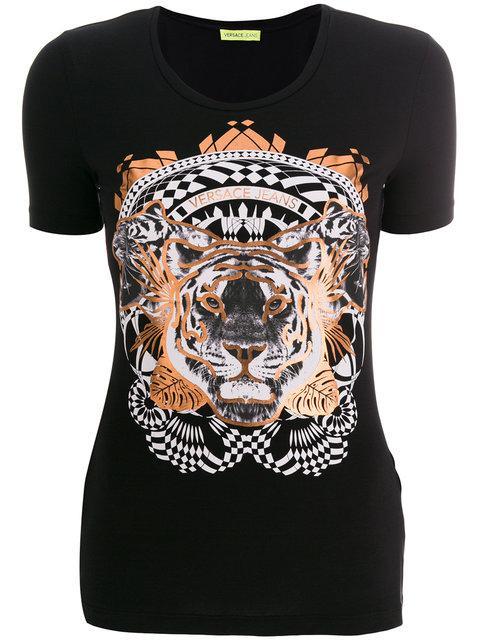 Versace Jeans Tiger Print T-shirt