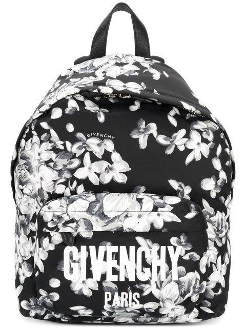 Givenchy Floral Backpack In Black