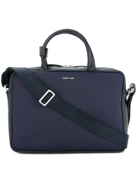 Cerruti 1881 Shoulder Strap Laptop Bag In Blue