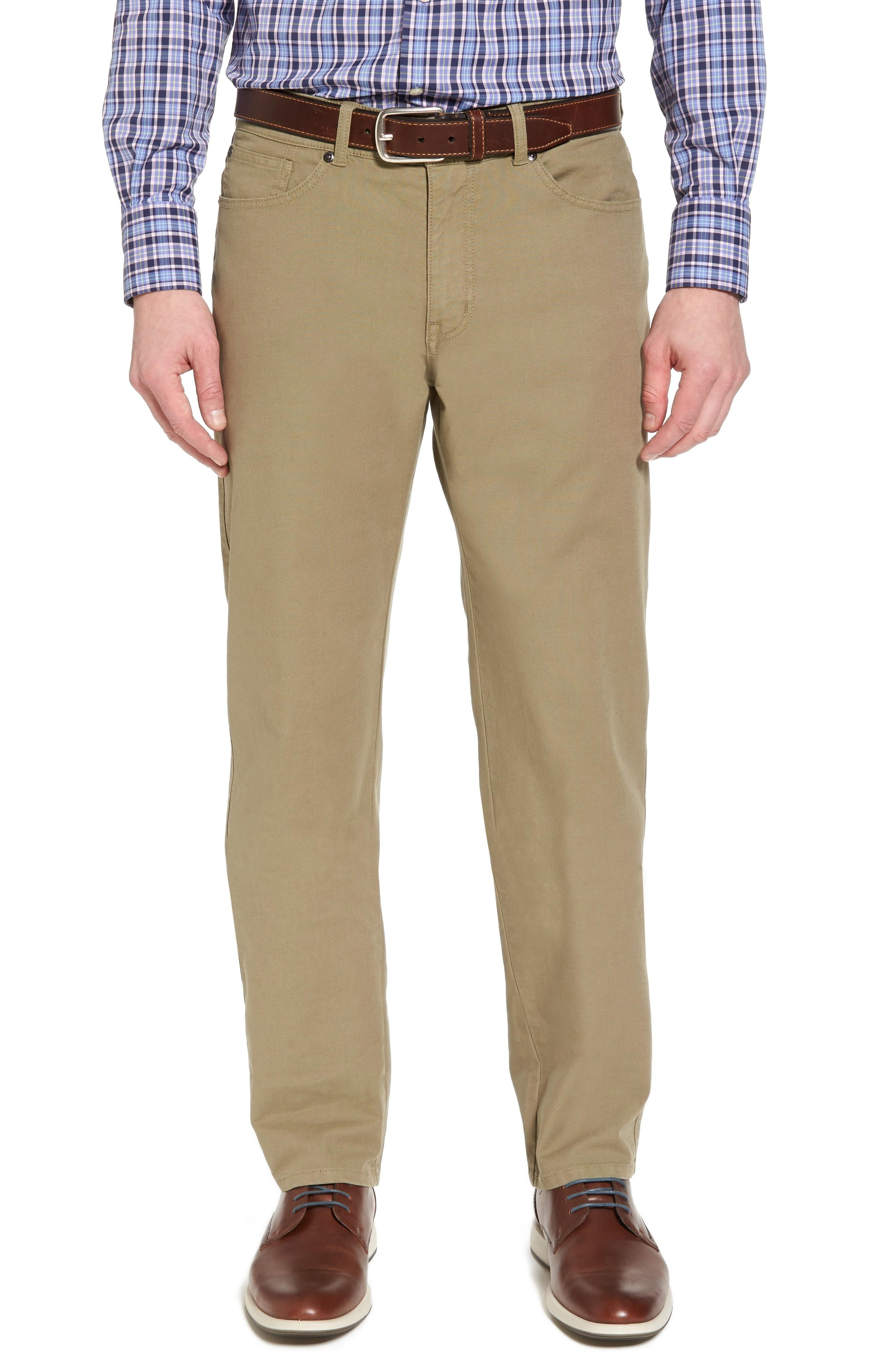 fd8094d69bc9 Five-pocket styling and durable cotton canvas construction bring laid-back  attitude to slim straight-leg pants that are a refreshing changeup from  your ...
