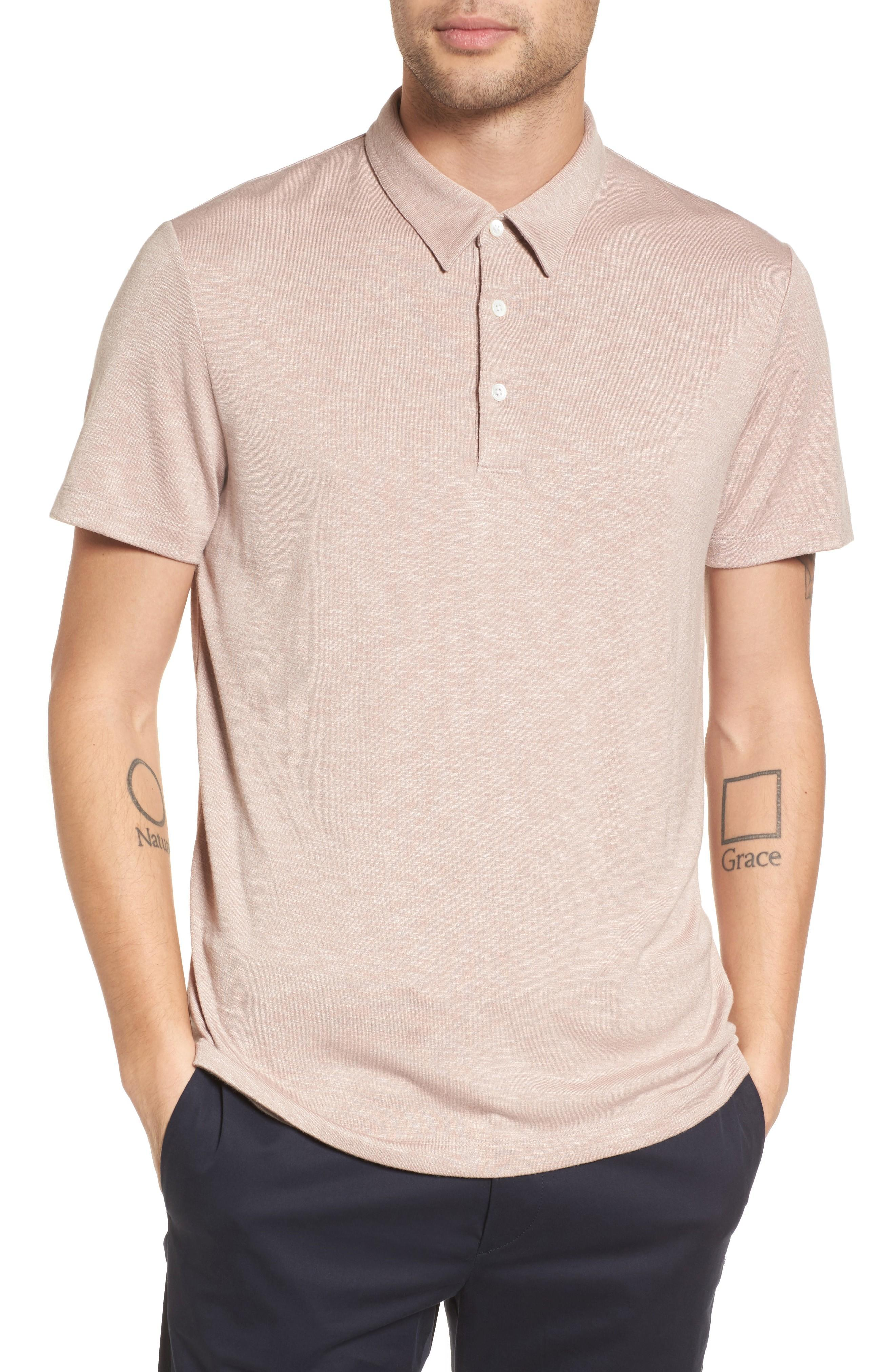 Theory Bron Slim Fit Polo In Lotus
