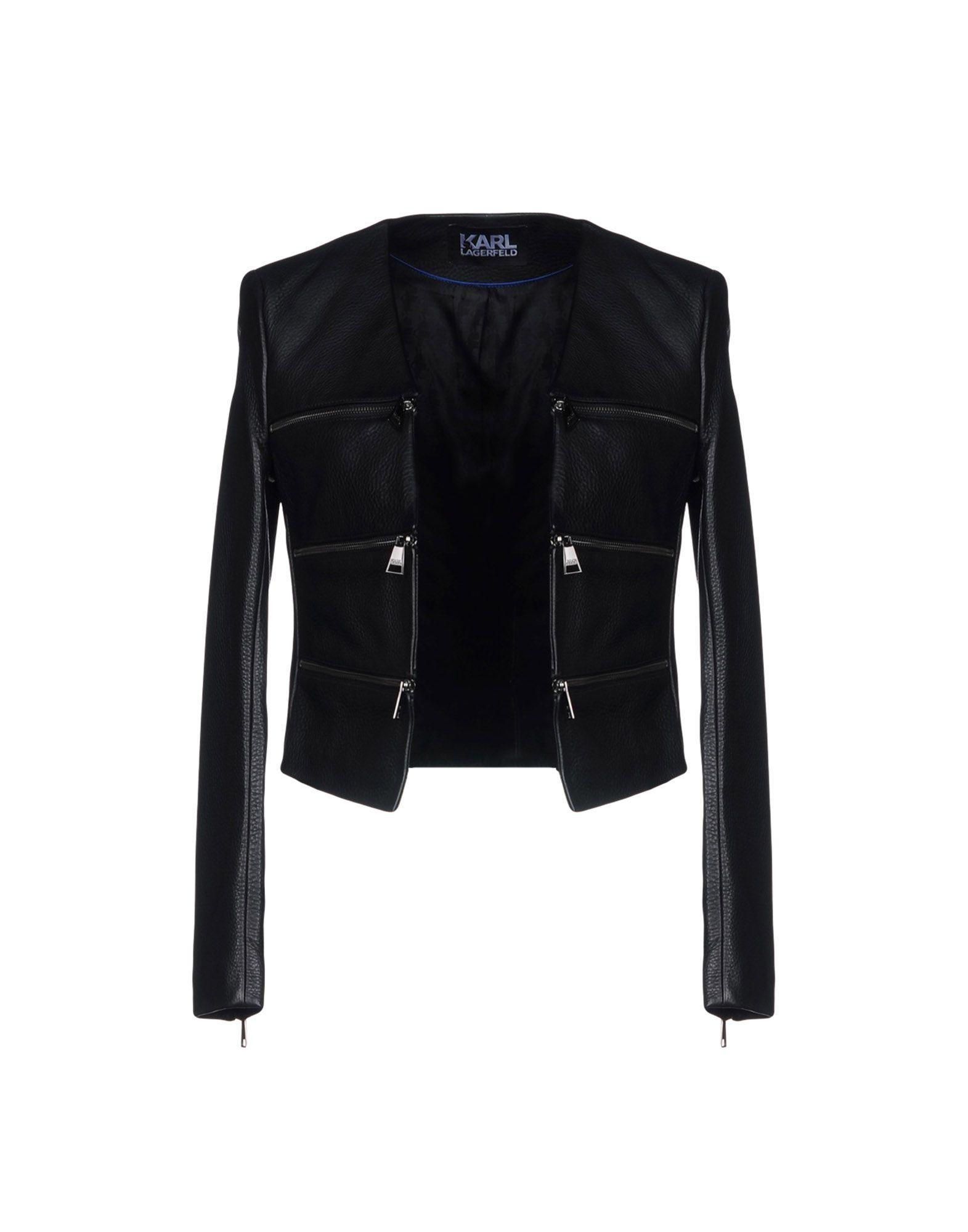 Karl Lagerfeld Jackets In Black