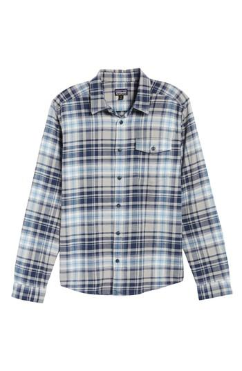 Patagonia Regular Fit Organic Cotton Flannel Shirt In Classic Navy