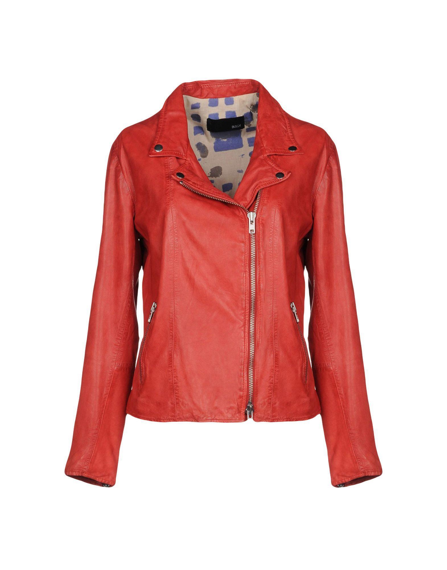Bully Biker Jacket In Red