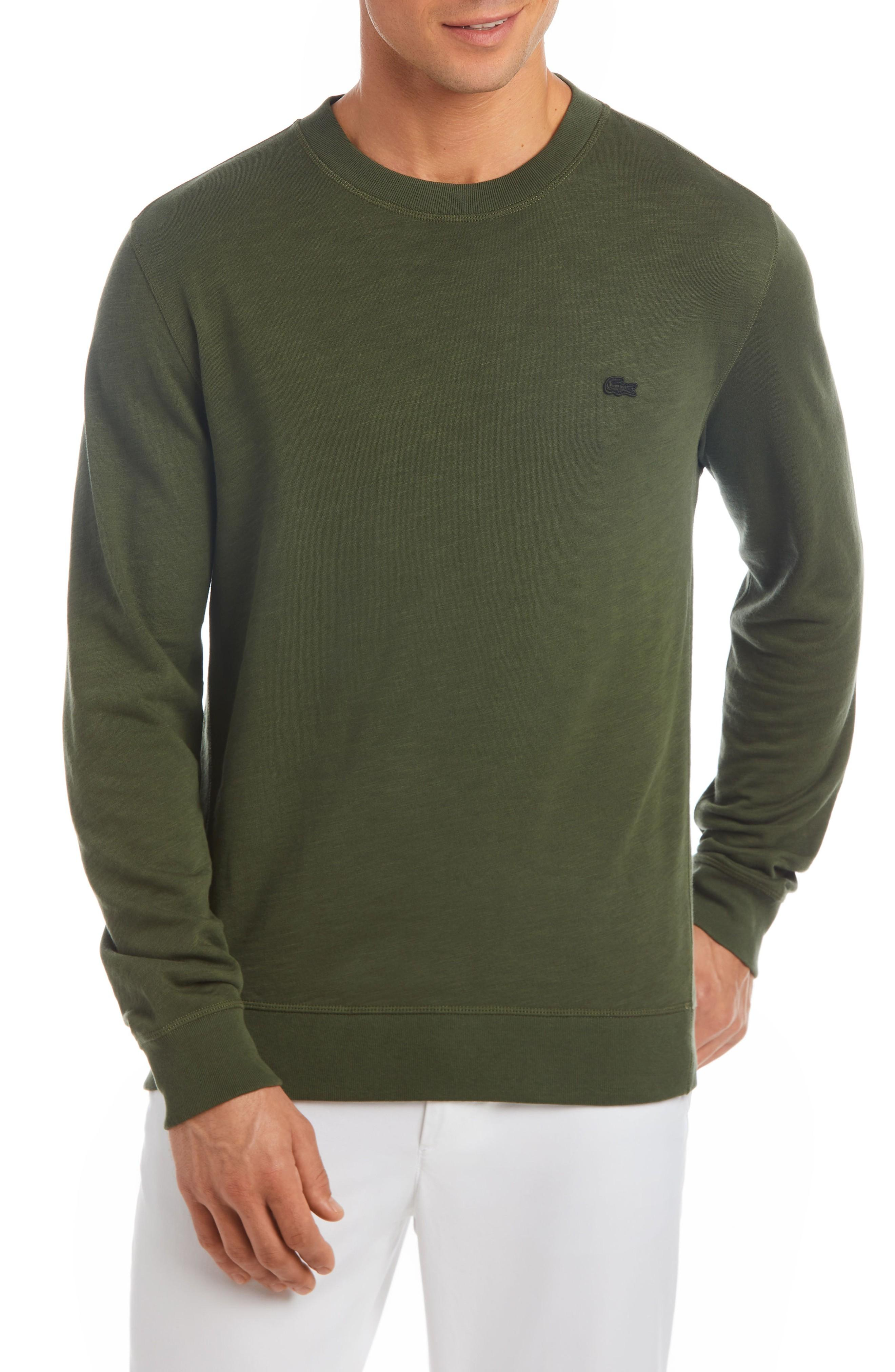 Lacoste Slim Fit French Terry Sweatshirt In Baobab