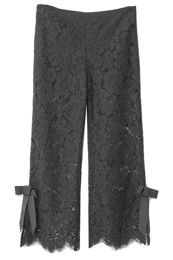 Ganni Duval Lace Pants In Black