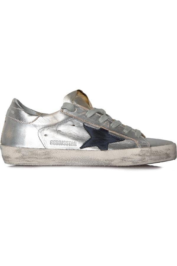 Golden Goose Sneakers Superstar Gold Silver In Gold, Silver, Golden, Black