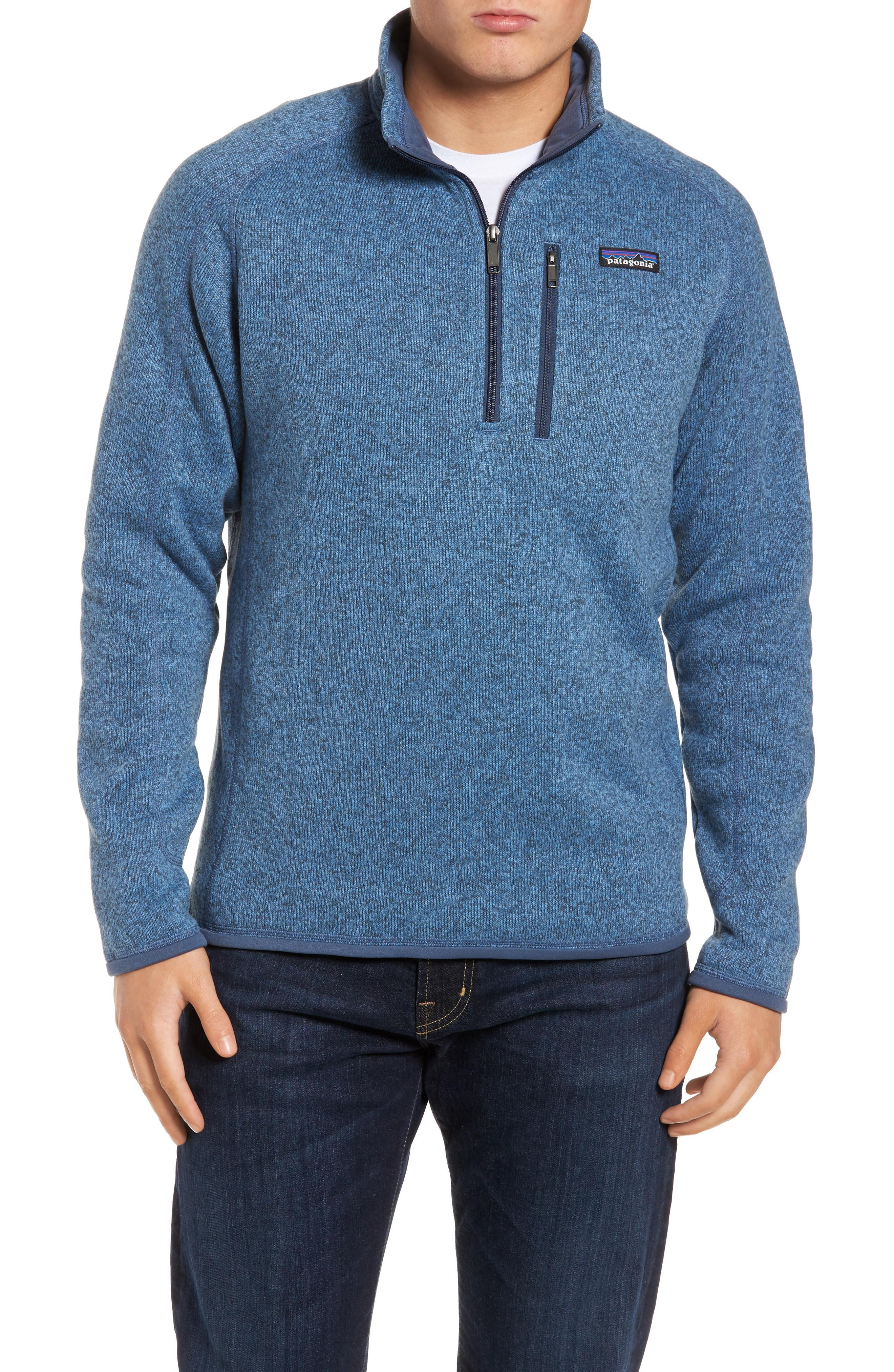 Patagonia 'better Sweater' Quarter Zip Pullover In Railroad Blue
