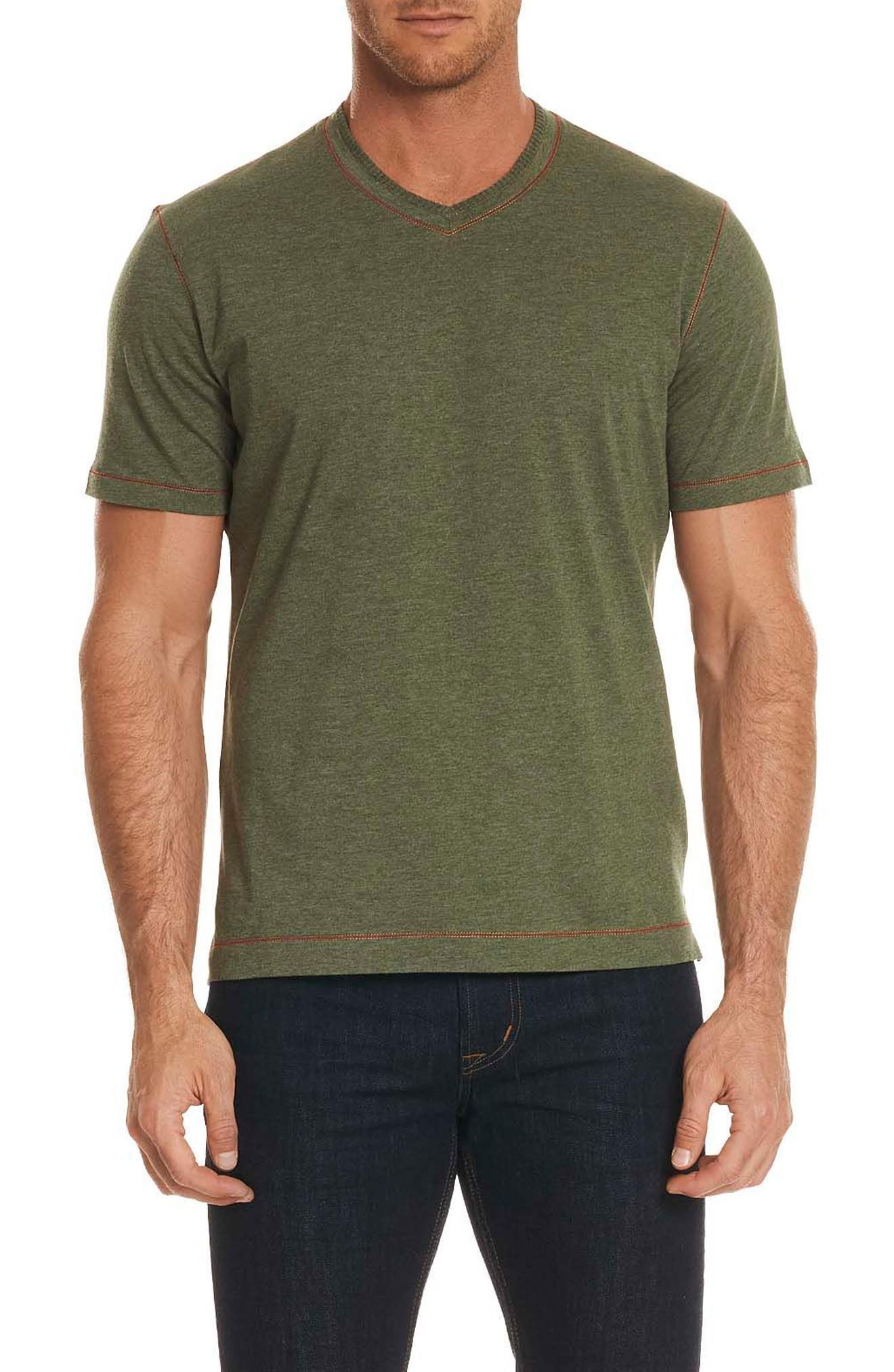 Robert Graham Traveler V-neck T-shirt In Army