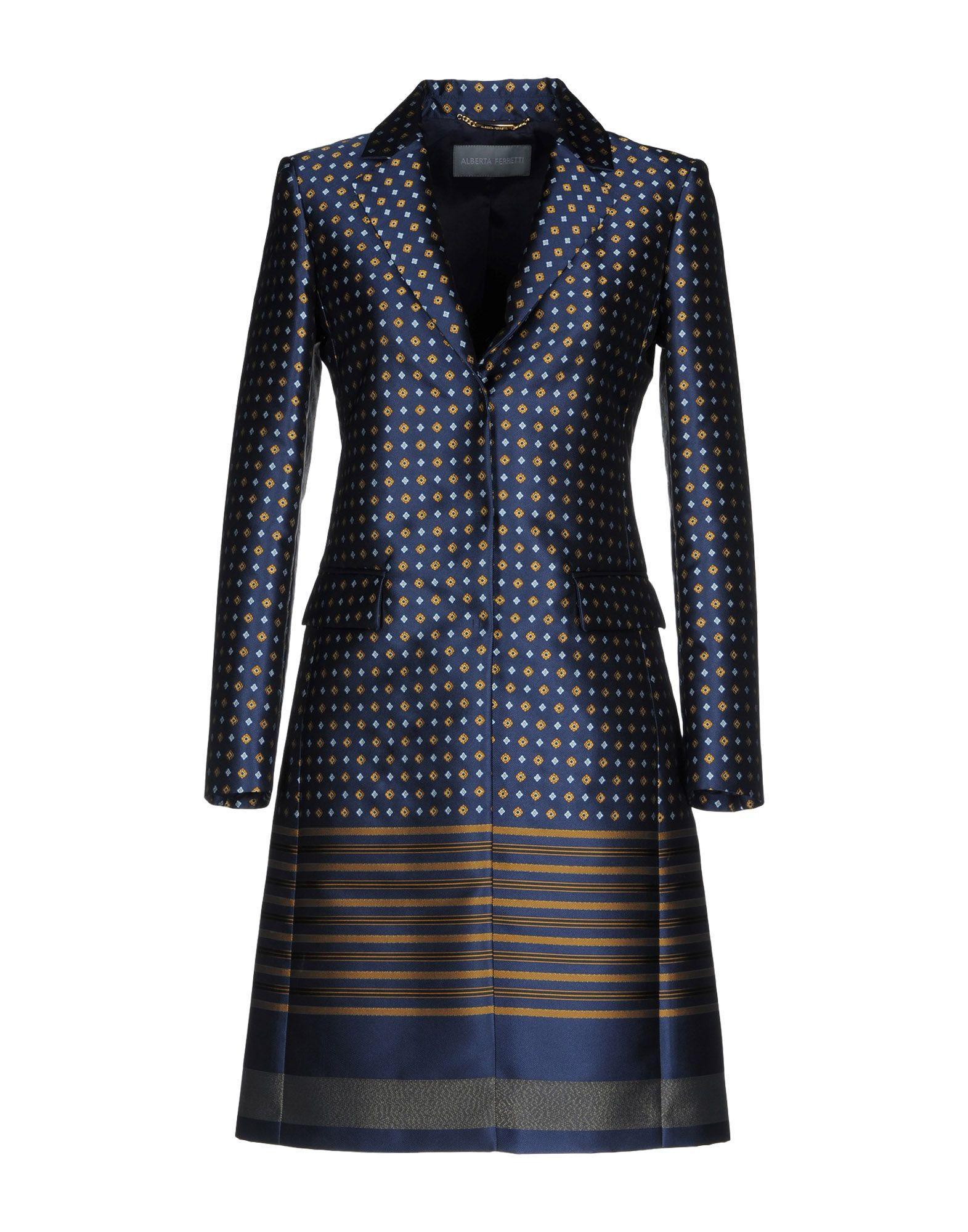 Alberta Ferretti Full-length Jacket In Dark Blue