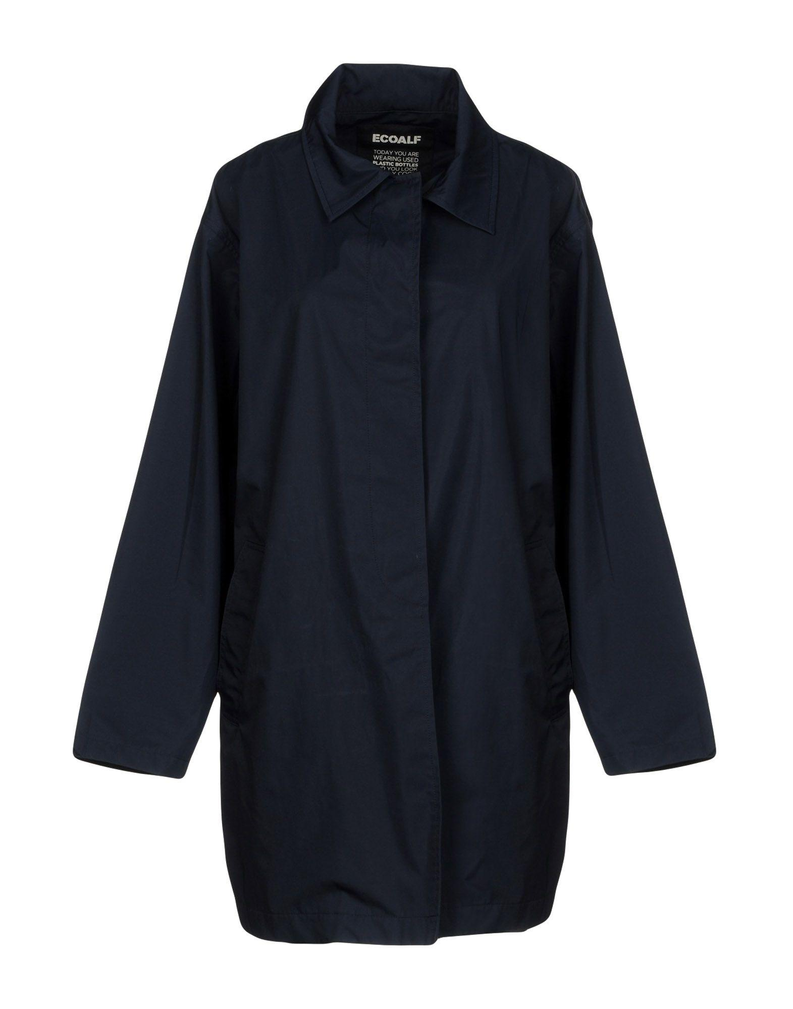 Ecoalf Overcoats In Dark Blue