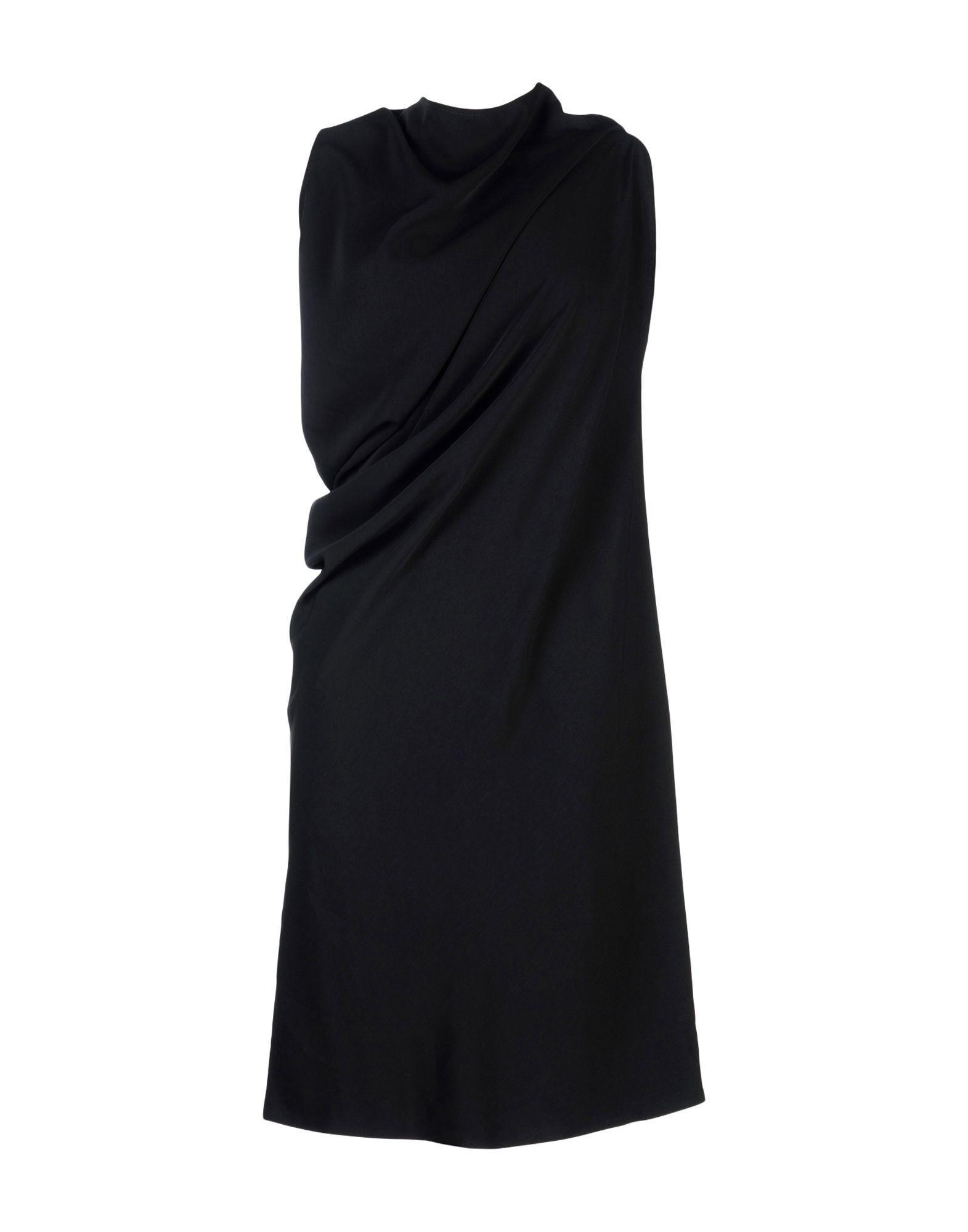 Mm6 Maison Margiela 3/4 Length Dress In Black