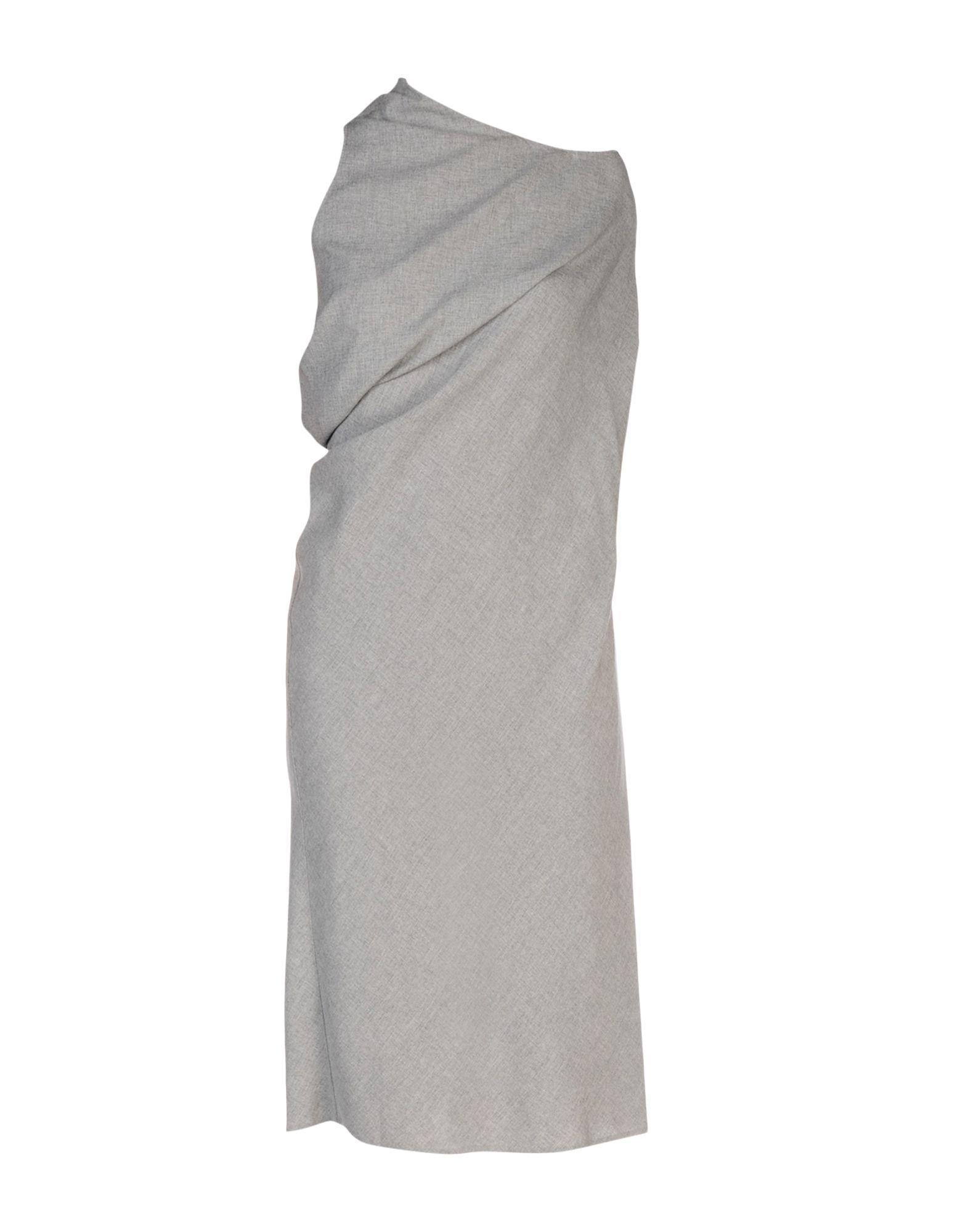 Mm6 Maison Margiela 3/4 Length Dresses In Grey