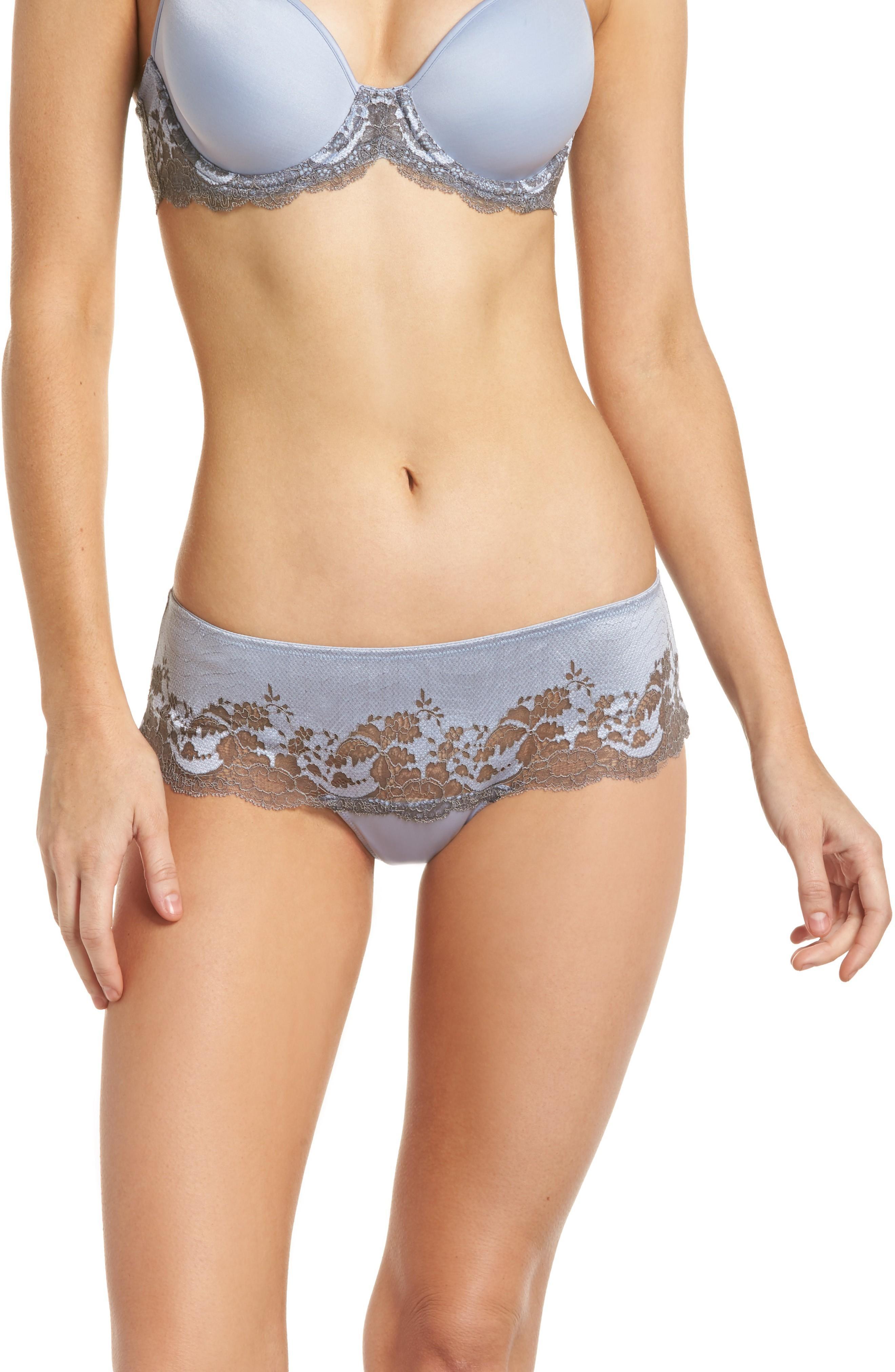 Wacoal Lace Affair Tanga In Eventide/ Gray