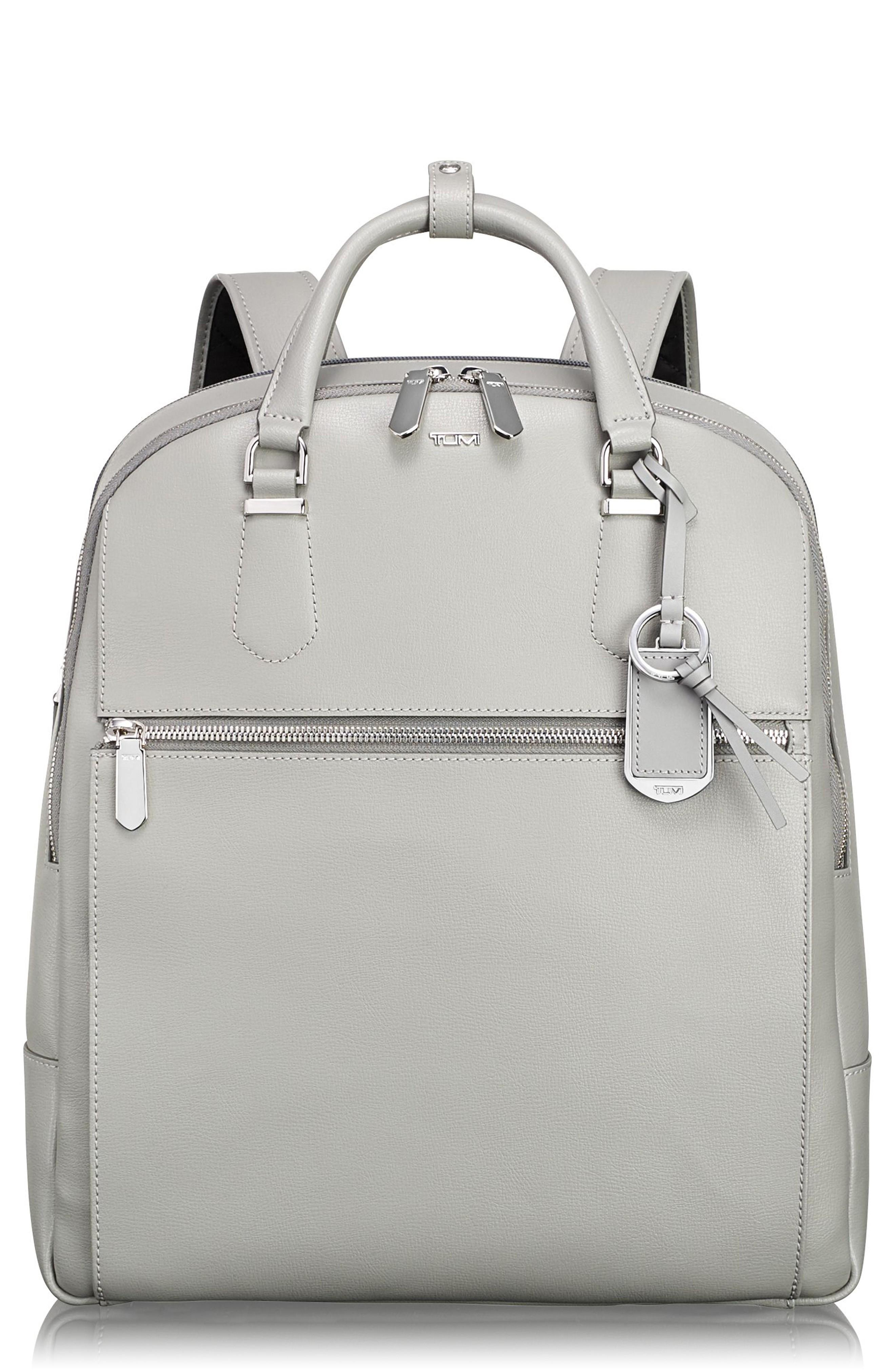 Tumi Stanton Orion Leather Backpack - Grey In Light Grey