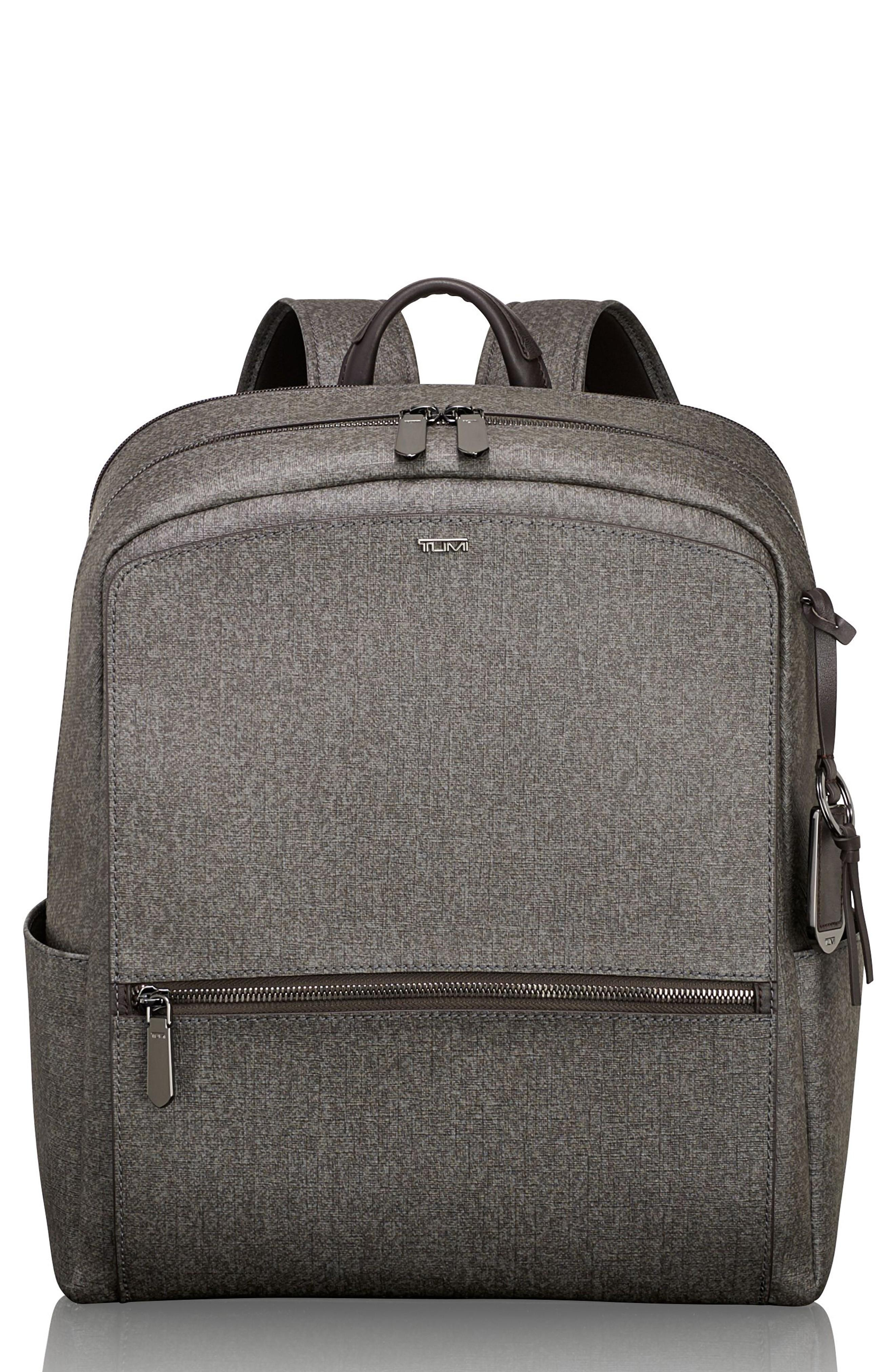 Tumi Stanton Becca Coated Canvas Backpack - Grey In Earl Grey