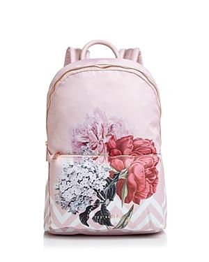 Ted Baker Palace Gardens Nylon Backpack - Pink In Dusky Pink