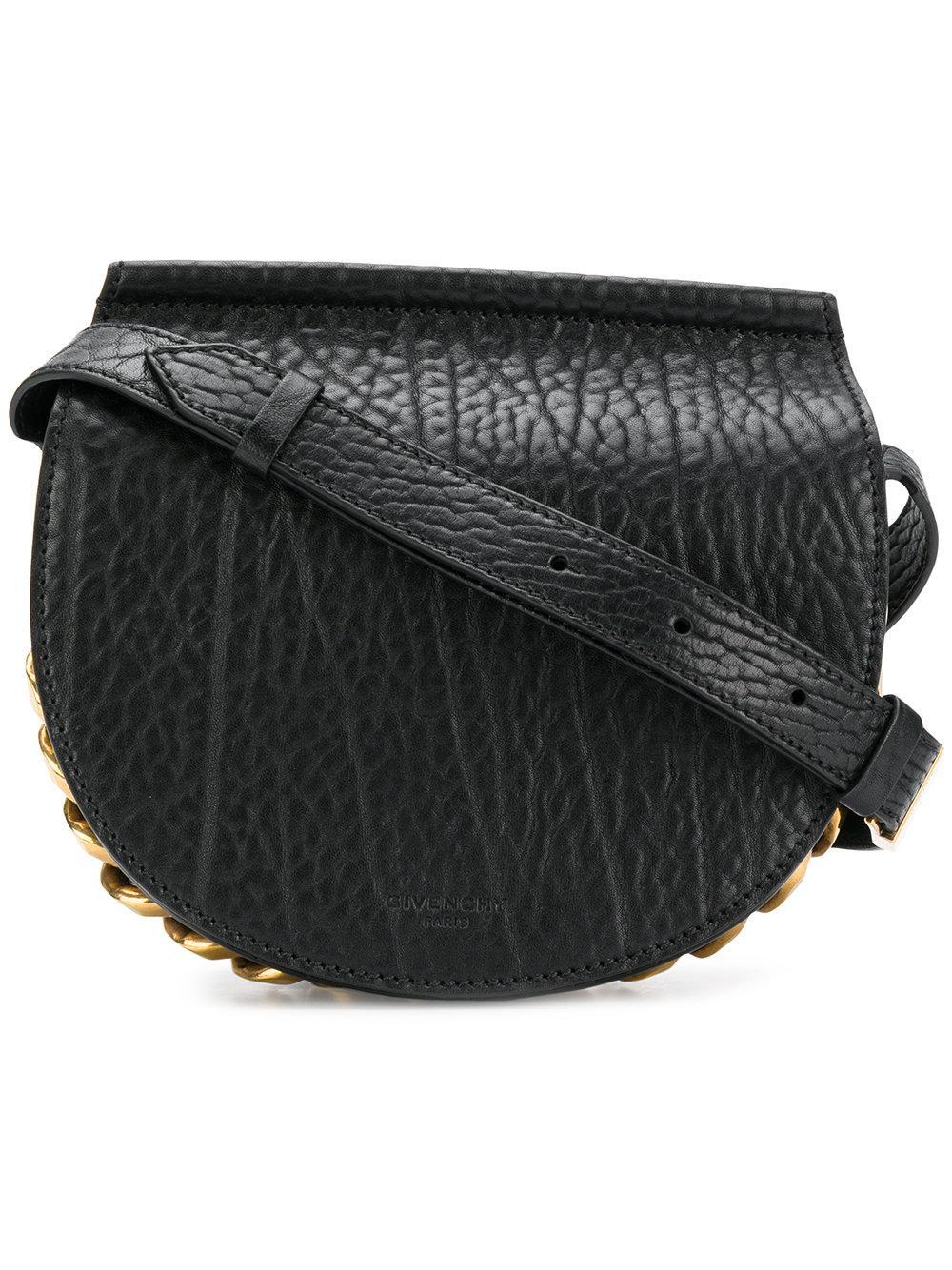 Givenchy Infinity Calfskin Leather Saddle Bag - Black